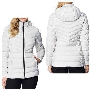 32 degrees off white light weight puffer coat